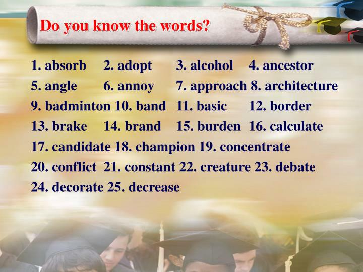 Do you know the words