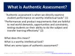 what is authentic assessment