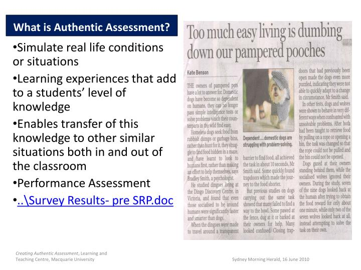 What is Authentic Assessment?