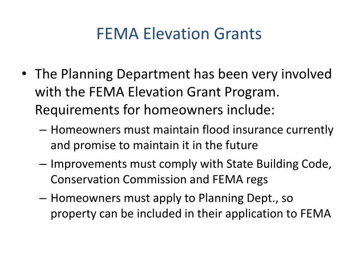 FEMA Elevation Grants