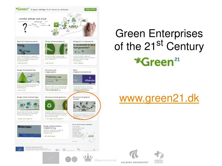Green Enterprises of the 21