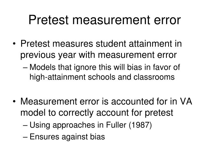Pretest measurement error