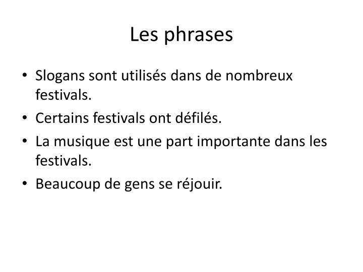 Les phrases