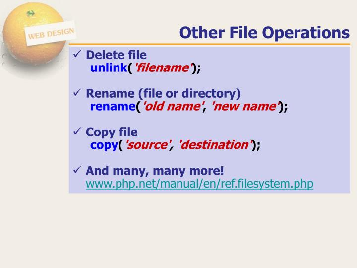 Other File Operations