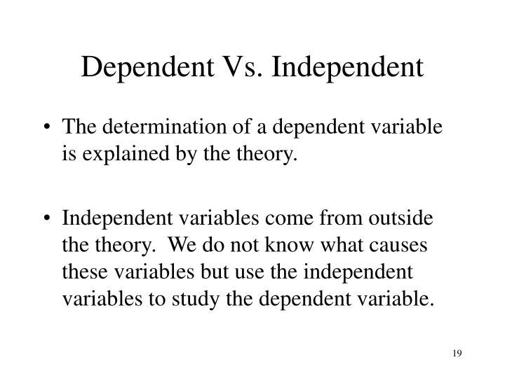 Dependent Vs. Independent