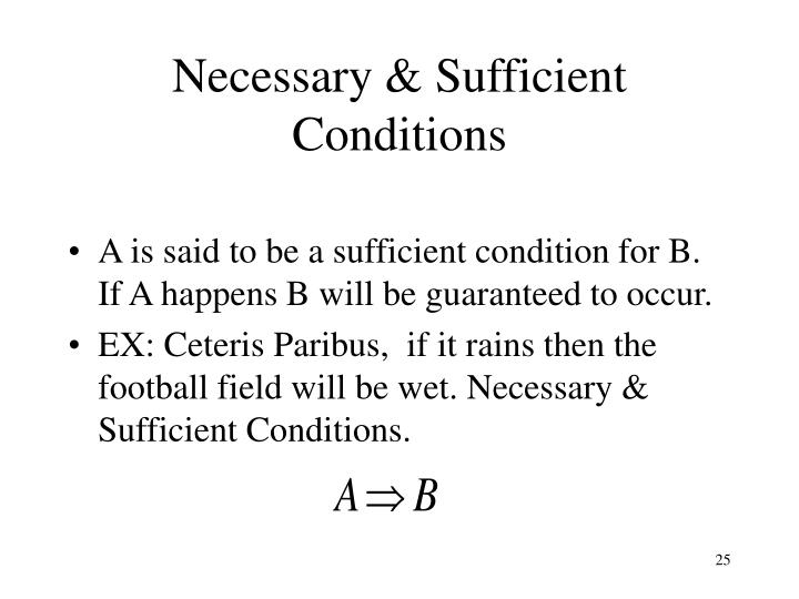 Necessary & Sufficient Conditions