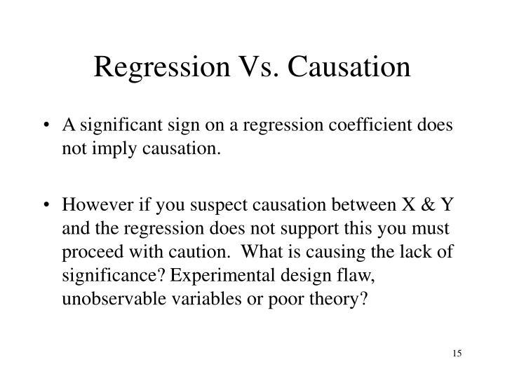 Regression Vs. Causation