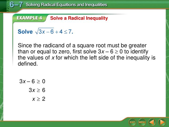 Solve a Radical Inequality