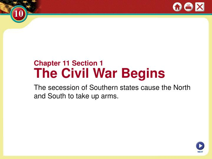 Chapter 11 Section 1