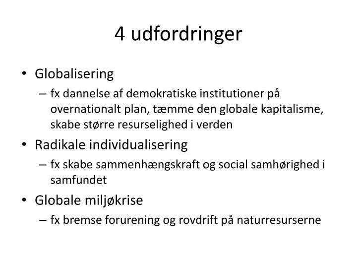 4 udfordringer