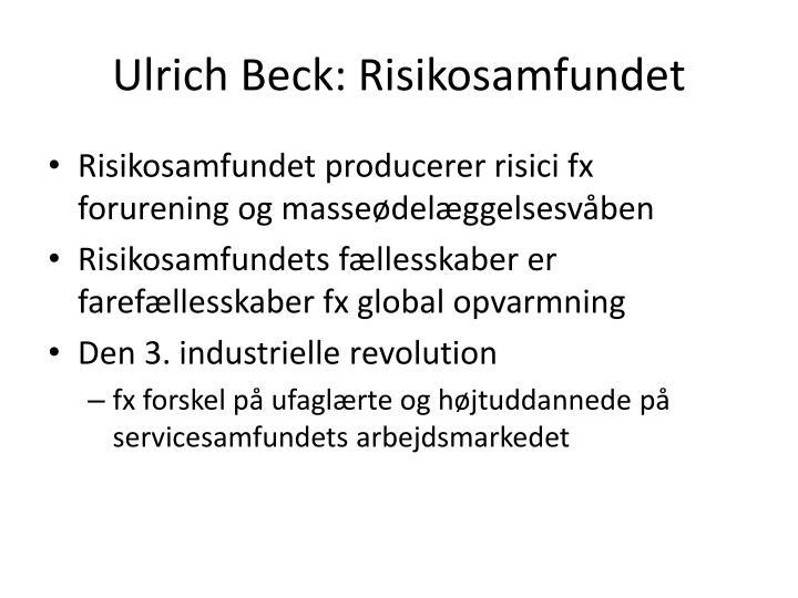 Ulrich Beck: Risikosamfundet