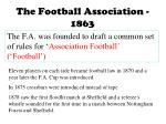 the football association 1863