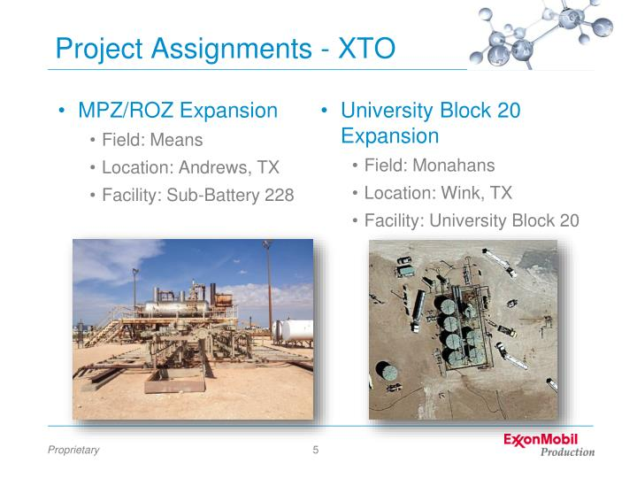 Project Assignments - XTO