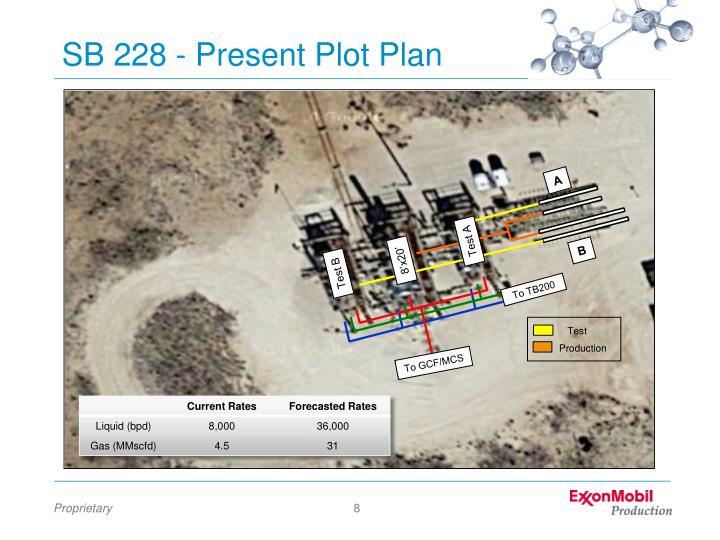 SB 228 - Present Plot Plan