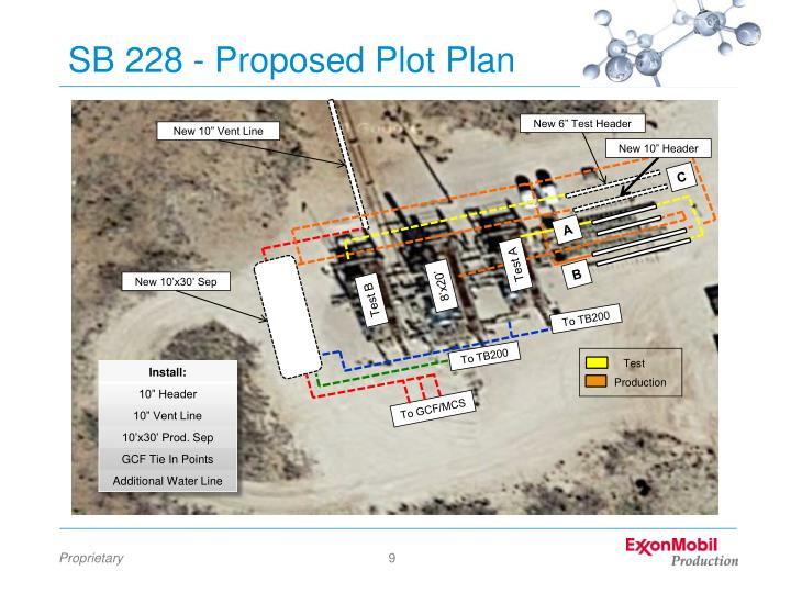 SB 228 - Proposed Plot Plan