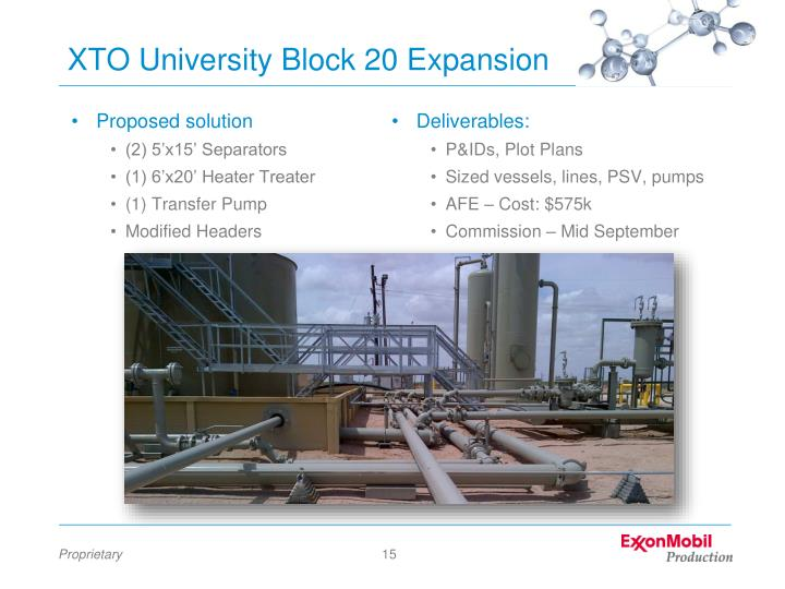 XTO University Block 20 Expansion