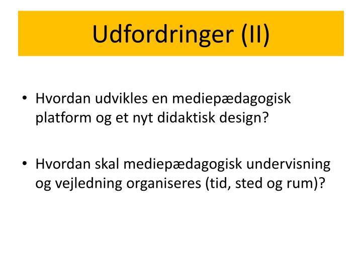 Udfordringer (II)