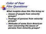 color of fear film questions
