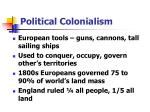 political colonialism