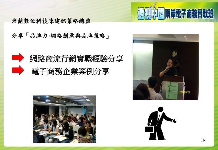 米蘭數位科技陳建銘策略總監