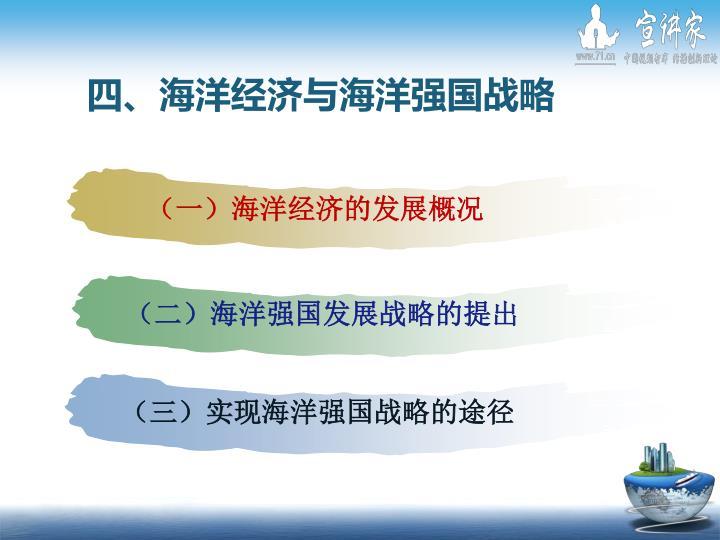 (二)海洋强国发展战略的提出