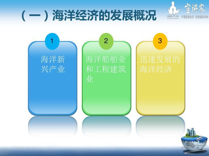 (一)海洋经济的发展概况