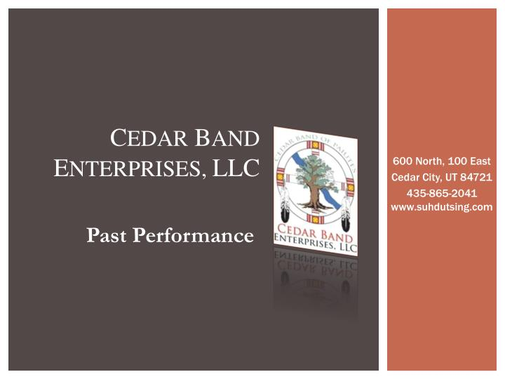 C edar b and e nterprises llc