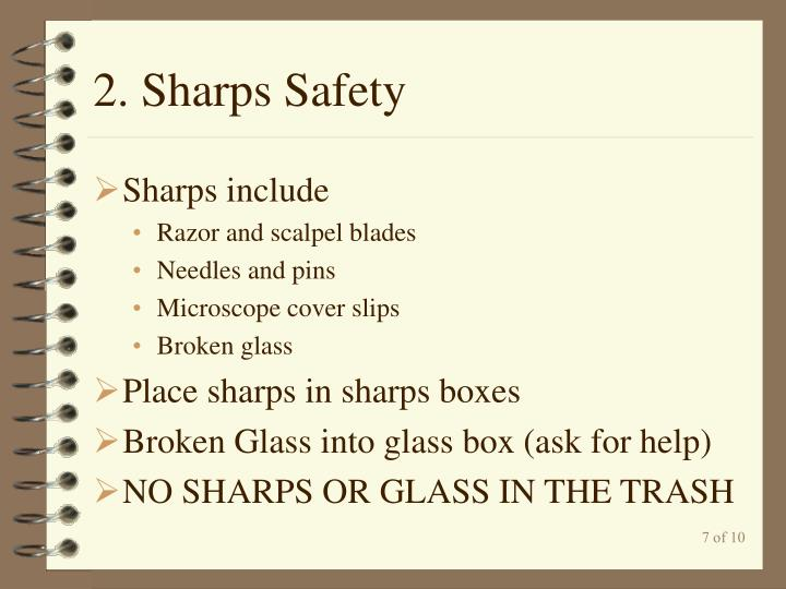 2. Sharps Safety