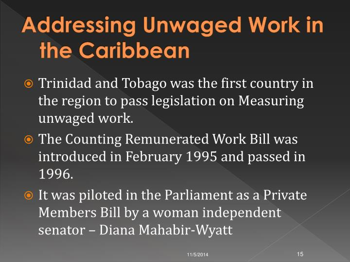 Addressing Unwaged Work in the Caribbean