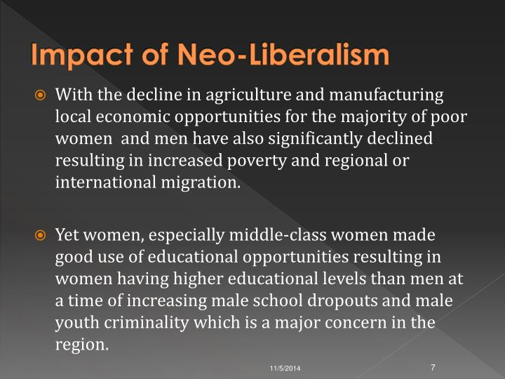 Impact of Neo-Liberalism