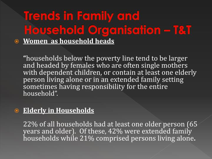 Trends in Family and Household