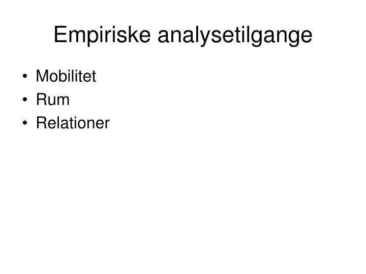 Empiriske analysetilgange
