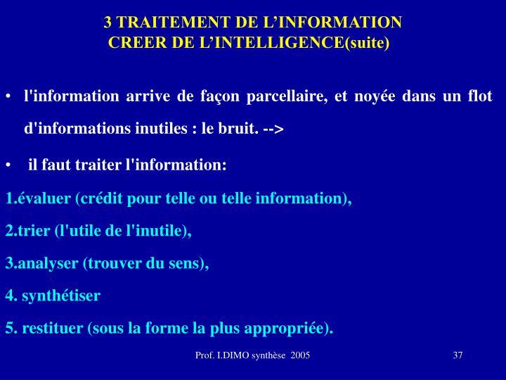 3 TRAITEMENT DE L'INFORMATION