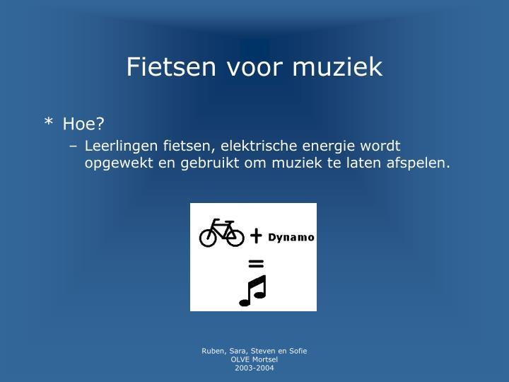 Fietsen voor muziek