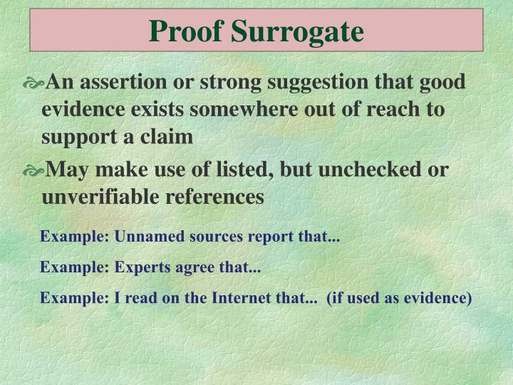 Proof Surrogate
