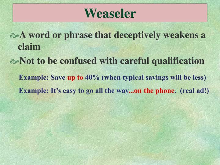 Weaseler