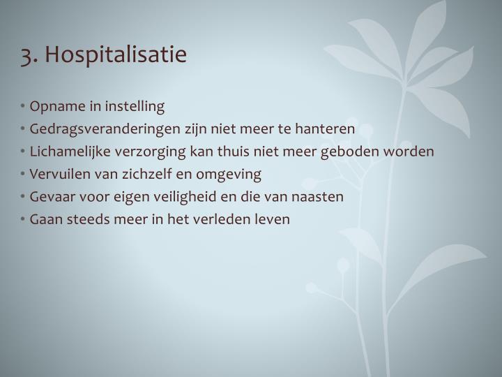 3. Hospitalisatie