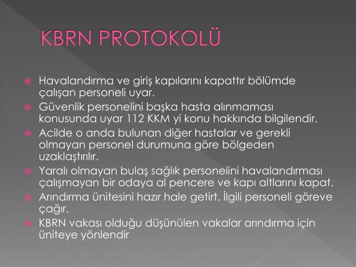 KBRN PROTOKOLÜ