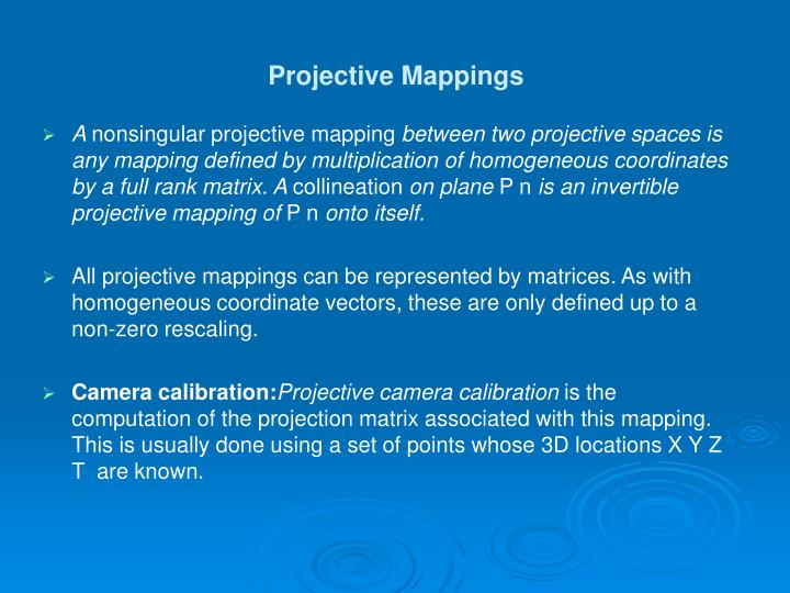 Projective Mappings