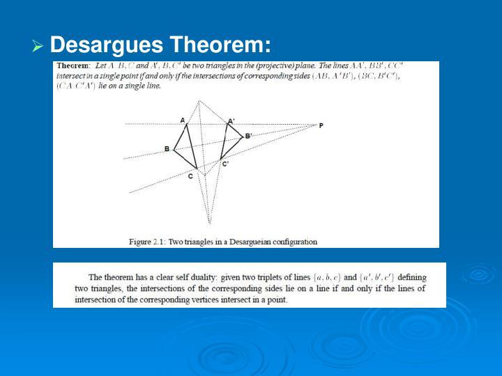 Desargues Theorem: