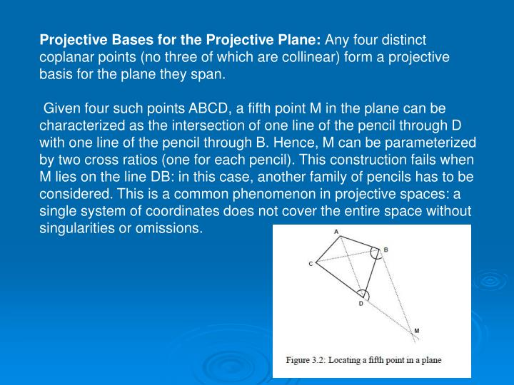 Projective Bases for the Projective Plane: