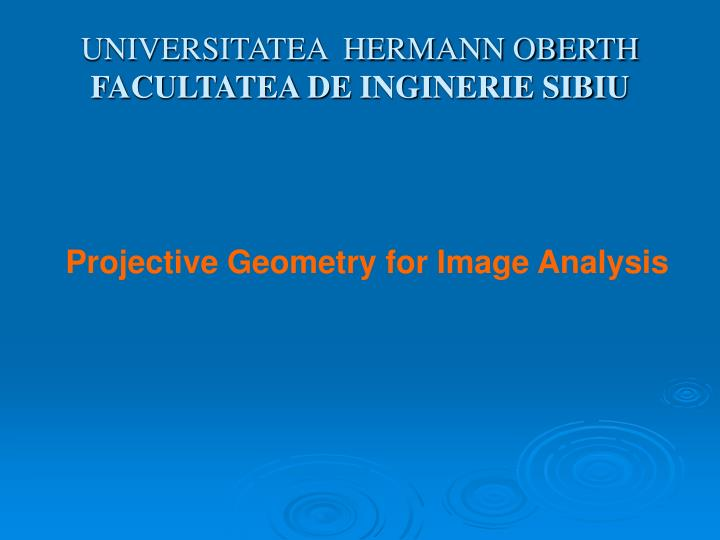 UNIVERSITATEA  HERMANN OBERTH