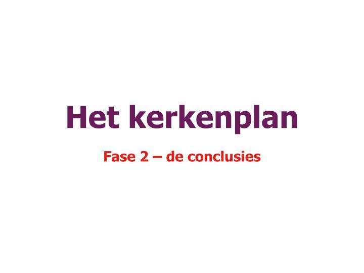 Het kerkenplan