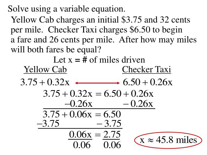 Solve using a variable equation.