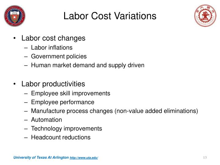 Labor Cost Variations