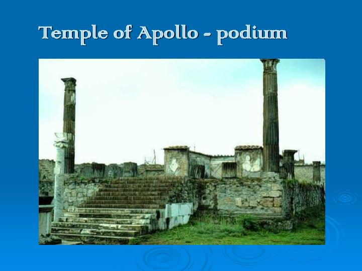 Temple of Apollo - podium