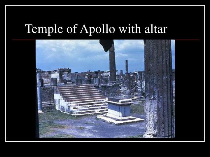 Temple of Apollo with altar