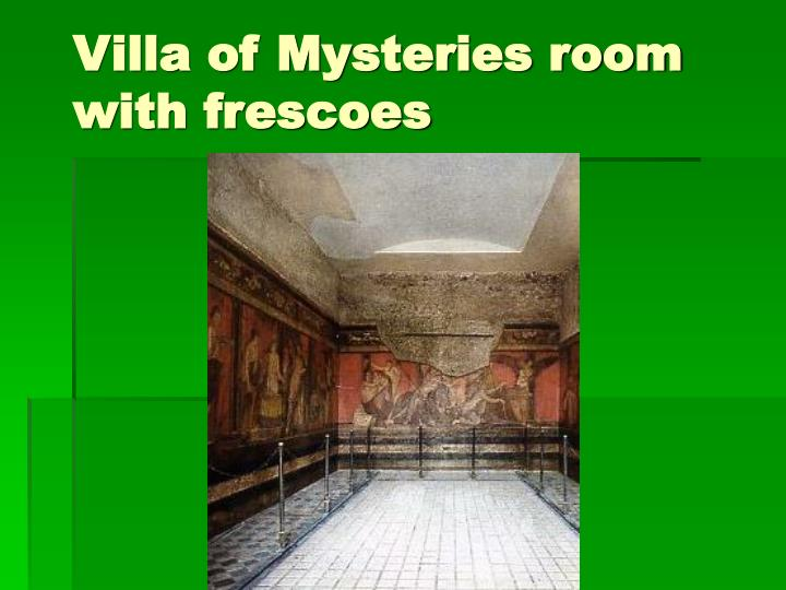 Villa of Mysteries room with frescoes