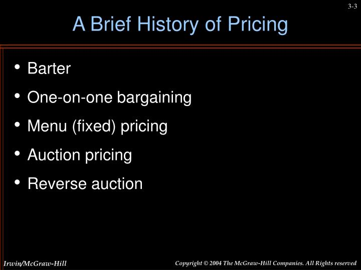 A brief history of pricing