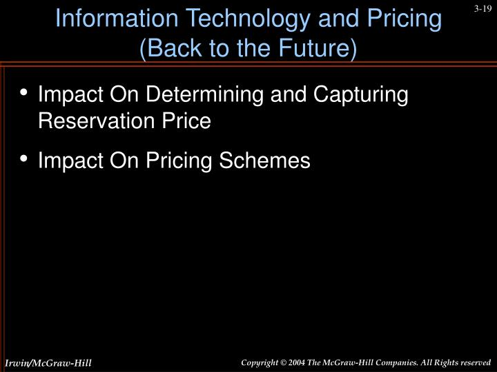 Information Technology and Pricing